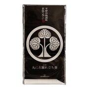 京都染織謹製 家紋てぬぐい 丸に左離れ立ち葵 Z-00336