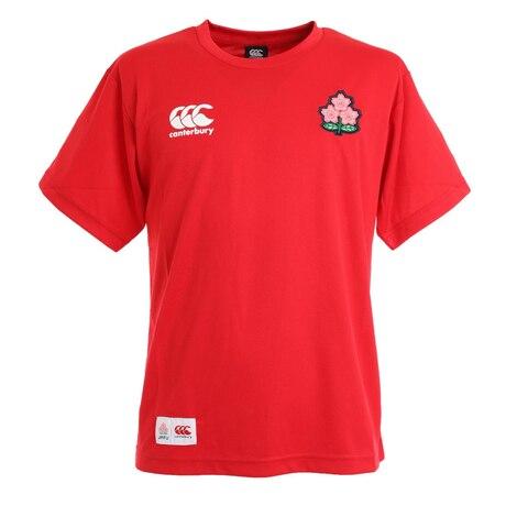 ラグビー ジャパンワンチームTシャツ 日本代表 桜ロゴ RA30300 65 赤 レッド