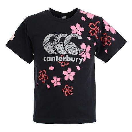 ラグビー ジャパンワンチームブロッサムTシャツ 日本代表 桜ロゴ RA30301 19 黒 ブラック