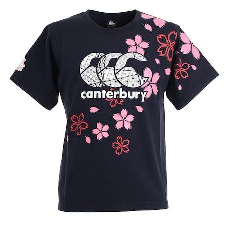 ラグビー ジャパンワンチームブロッサムTシャツ 日本代表 桜ロゴ RA30301 29 紺 ネイビー