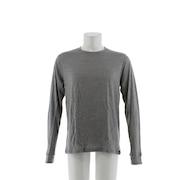 【多少の傷汚れありの為大奉仕】NATURAL 100 MERINO WARM ベースレイヤー 長袖Tシャツ 110412 GRYXBLK オンライン価格