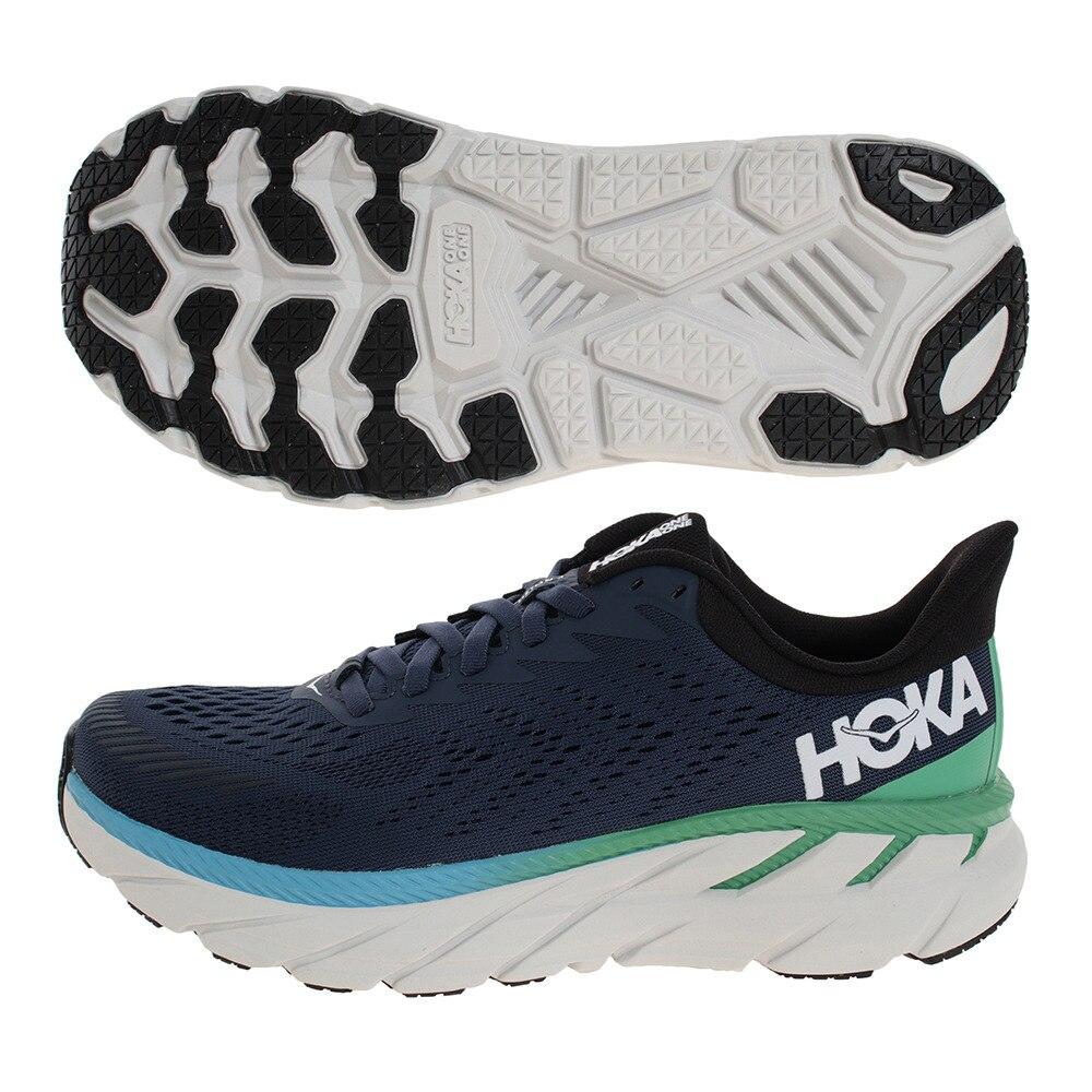 HOKA ONE ONE ランニングシューズ クリフトン7 ワイド 1110534-MOAN ジョギングシューズ 25.0 48 シューズ