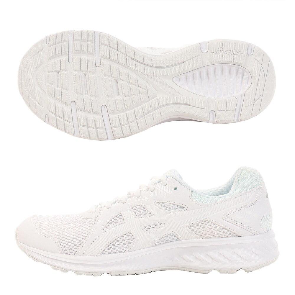 ASICS スニーカー ジョルト2 1011A206.100 白 ホワイトシューズ 通学靴 運動靴 ジョギングシューズ ランニングシューズ 真白 28.0 10 シューズ