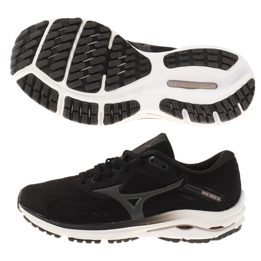 MIZUNO ランニングシューズ ウェーブライダー WAVE RIDER 24 J1GD200303 ジョギングシューズ 23.5 216 アウトドア