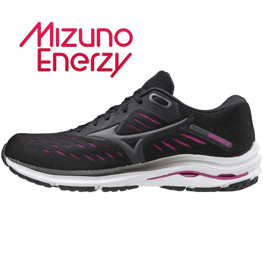 MIZUNO ランニングシューズ ウェーブライダー WAVE RIDER 24 WIDE J1GD200610 ジョギングシューズ 25.5 216 アウトドア