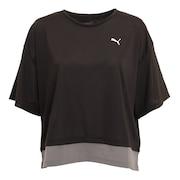 トレーニング レイヤード Tシャツ 520545 01 BLK