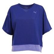 トレーニング レイヤード Tシャツ 520545 02 EBLU