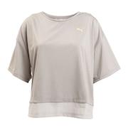 トレーニング レイヤード Tシャツ 520545 03 LGRY