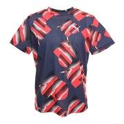 スクランブル scRUNble ランニング グラフィック Tシャツ 521132 01 NVY