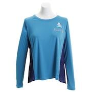 ランニング Tシャツ レディース 長袖 ライトドットフレアロングランシャツG 7191-17000SAX オンライン価格