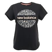 SAKURA ラウンドグラフィック半袖Tシャツ AWT1106YBK