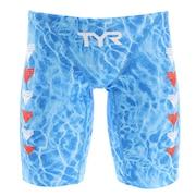 競泳水着 メンズ 水泳 ロングボクサー WATER S.  JWASF112 BL