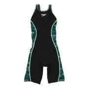 競泳水着 レディース 水泳 スピードグリッチターンズニースキン STW12101 GR