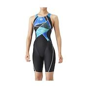 競泳水着 レディース 水泳 アクアレーシング セイフリーバックスパッツ FINA承認 ARN-1066W BKBU