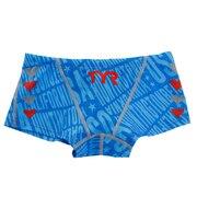 競泳水着 男子 ジュニア ボーイズ ローライズボクサー シェブロン カラフル かわいい 青 ブルー BCHEVJR-18M BLRD