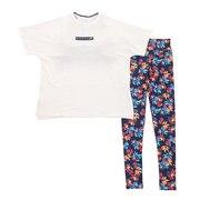 水着 レディース 水着 Tシャツ 3点セットスイムスーツ 920805NVY