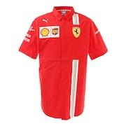 フェラーリ チーム 半袖ポロシャツ 763034 02 RED