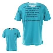 ショートスリーブフラッシュドライメリノメッセージクルーシャツ NT32174 MR