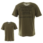 ショートスリーブフラッシュドライメリノメッセージクルーシャツ NT32174 NT