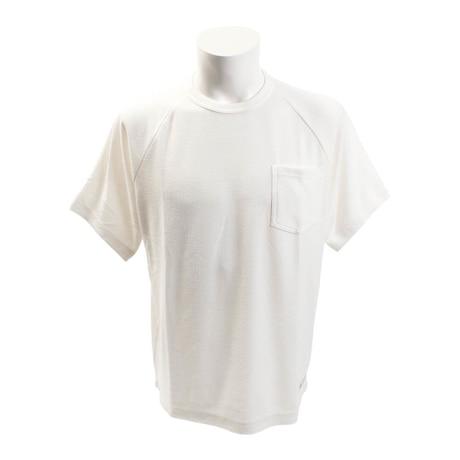 【多少の傷汚れありの為大奉仕】Tシャツ 半袖 ワイドポケット付き 863EK8FQ5814WHT