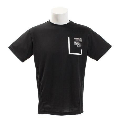 【多少の傷汚れありの為大奉仕】Tシャツ 半袖 サイクルエアーボックスシルエット 863D8HD5630 BLK