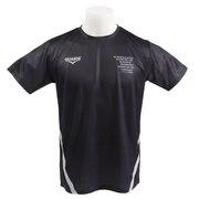 Tシャツ 半袖 ドライプラス UV メッシュ総柄 863D9CD9311 BLK