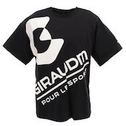 Tシャツ 半袖 メンズ ドライプラス UV 863GM0CD2438 BLK