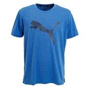 Tシャツ メンズ 半袖 FAVORITE ヘザー キャット トレーニング 518821 12 BLU カットソー オンライン価格