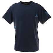 【送料無料! 20日まで】洗っても機能が続く UV 吸汗速乾 接触冷感 ドライプラスクール ハイブリッド半袖Tシャツ 863GM1EG6710 NVY