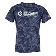 洗っても機能が続く UV 吸汗速乾 放熱素材 ドライプラスサイクルエアー 半袖Tシャツ 863GM1DT6689 NVY