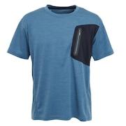 ドライプラス クールカチオン ポケット半袖Tシャツ 863D1SD6838 BLU