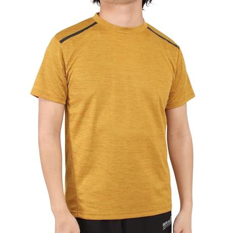 接触冷感 吸汗速乾 UVカット カチオン 半袖Tシャツ 863D1SD6839 GLD 冷感 クール