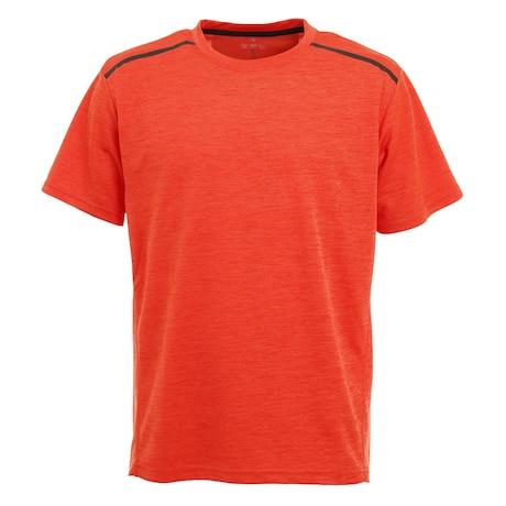 接触冷感 吸汗速乾 UVカット カチオン 半袖Tシャツ 863D1SD6839 ORG 冷感 クール