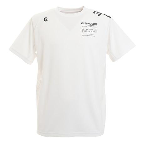 抗ウイルス素材 ナノガード ドライ 吸汗速乾 UVカット メッシュ半袖Tシャツ 863GM1TP6606 WHT 生地 服 洗える