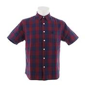 Tシャツ メンズ チェック 半袖 シャツ 863EK9CG9421 NVY/RED オンライン価格
