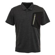 ドライプラス クールカチオン 半袖ポロシャツ  863D1SD6840 BLK
