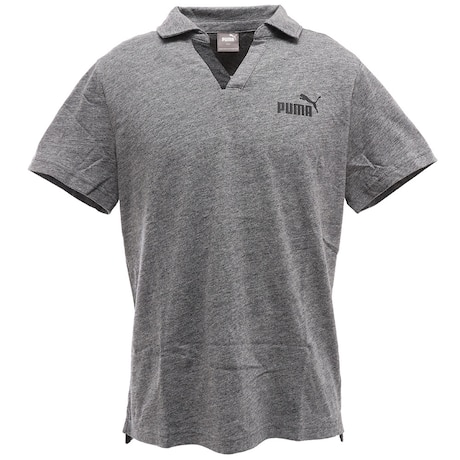 ESS+ オープンポロシャツ 半袖 583214 02 GRY オンライン価格