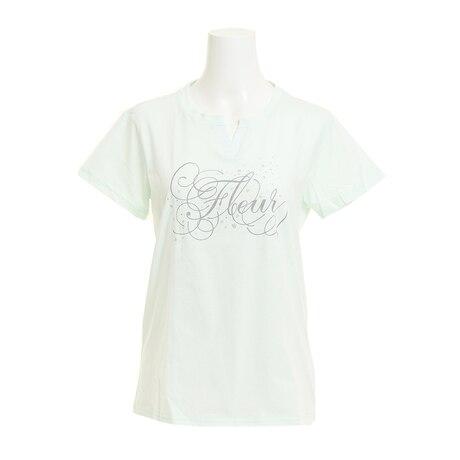 【多少の傷汚れありの為大奉仕】Tシャツ レディース 半袖 T/C KEY NECK HU18SCD864423LMN