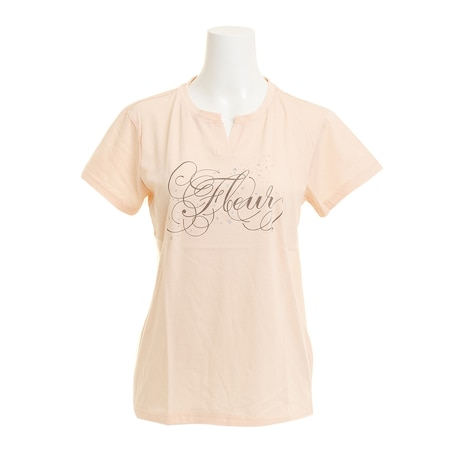 【多少の傷汚れありの為大奉仕】Tシャツ レディース 半袖 T/C KEY NECK HU18SCD864423SBT