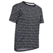 Tシャツ レディース 半袖 ロゴ プリント ライブ 1355708 BLK/WHT AT