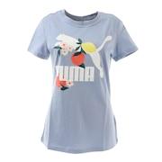 CLASSICS グラフィックス レギュラーフィット グラフィック Tシャツ 599617 19 BLU