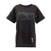 Tシャツ レディース 半袖 サイクルエアー 864D9HD9245 BLK