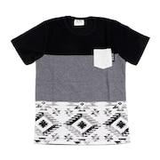 ジュニア 切替えポケット半袖Tシャツ 68112 BLK オンライン価格