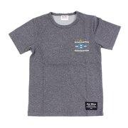 ジュニア オルティガ柄 半袖ポケットTシャツ 68114 CGRY オンライン価格