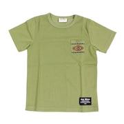 ジュニア オルティガ柄 半袖ポケットTシャツ 68114 KHK オンライン価格