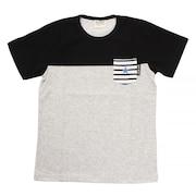 ボーイズ 切替えポケット 半袖Tシャツ 68116 BLK オンライン価格