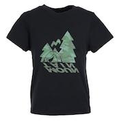 ボーイズ キャンプモチーフTシャツ 865PA1CD6651BLK 半袖