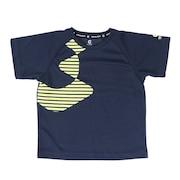 ジュニア ドライプラスUV半袖メッシュTシャツ 865GM1CD6686 NVY