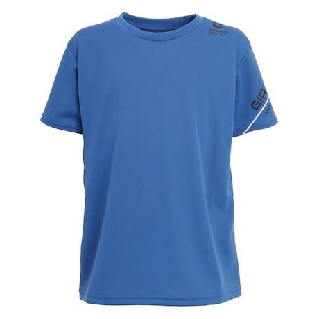 洗える抗ウイルス素材 ナノガード 吸汗速乾 UVカット ジュニア 半袖Tシャツ  865GM1TP6609 BLU 生地 服