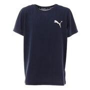ジュニア ACTIVE ESS スモールロゴ Tシャツ 588823 06 NVY